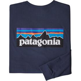 Patagonia P-6 Logo LS Responsibili Tee Men classic navy